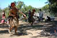 Max Cordova Dry Creek Pomo Dancers at Kule Loklo's Big Time Festival in July, 2008